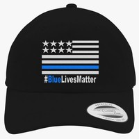 Blue Lives Matter Embroidered Cotton Twill Hat