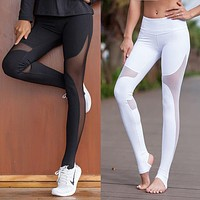 Curve Women Sport Fitness Leggings Elastic Gym Capris hollow out Tight Leggings Coast the same style Yoga pants I