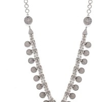 Natalie B Jewelry Kings Coin Necklace in Metallic Silver