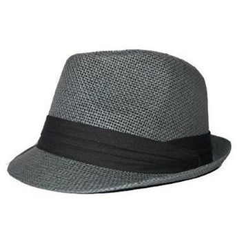 The Hatter Co. Tweed Classic Cuban Style Fedora Fashion Cap Hat - (5 Colors Available), Grey