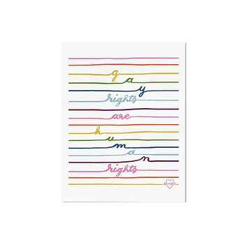 Gay Rights Art Print