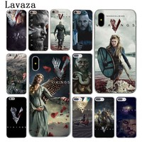 Lavaza Ragnar Lothbrok Vikings Hard Case Shell for Apple iPhone 6 6s 7 8 Plus 4 4S 5 5S SE 5C for iPhone XS Max XR Cases