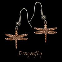 Copper Dragonfly Earrings by Copper Moon from Frederick Design