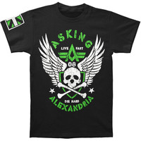 Asking Alexandria Men's  Live Fast T-shirt Black