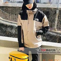 HCXX 19Aug 379 The North Face Z1987108 Woven Standing Collar Hooded Trench Sprintting Coat