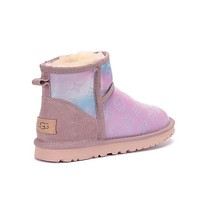 UGG x LV new fashion snow boots classic suede mid-tube boots