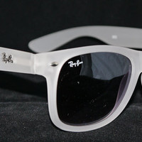 Rayban Wayfarer RB2140 Sunglasses Clear White Ray ban from Sunglasses For All