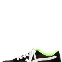 Running Man Black Lace-Up Sneakers
