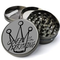 Queen Of Everything Deluxe Metal 5 Piece Herb Grinder With Fine Screen - The Best Kitchen Spice and Herb Grinder For Sale