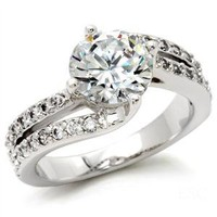 Jewelry - Round Cut Clear CZ Engagement Ring