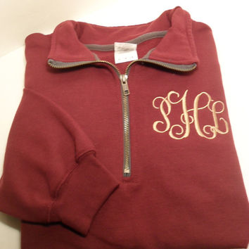 Monogram Quarter Zip Sweatshirt - Interlocking Monogram