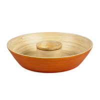 Bamboo Chip and Dip Set in Pumpkin