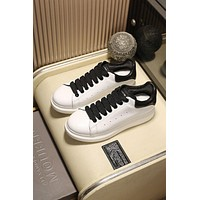 Alexander Mcqueen Women's Leather Fashion Low Top Sneakers Shoes #90