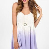 Lilac Ombre Sleeveless Dress