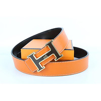 Hermes belt men's and women's casual casual style H letter fashion belt421