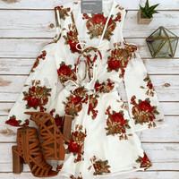 Ivory and Roses Bohemian Romper