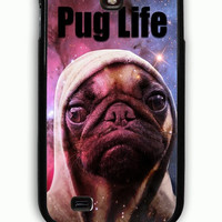 Samsung Galaxy S4 Case - Rubber (TPU) Cover with Funny Pug Life On Galaxy Rubber Case Design