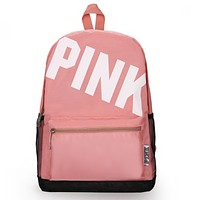 Victoria Pink New fashion letter print couple backpack bag