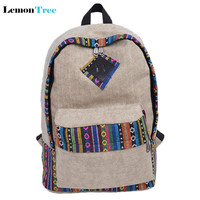 2016 Chinese Style Women's Canvas Backpack School Backpacks For Teenager Girls Casual Travel Bags Laptop bolsa mochila femininas