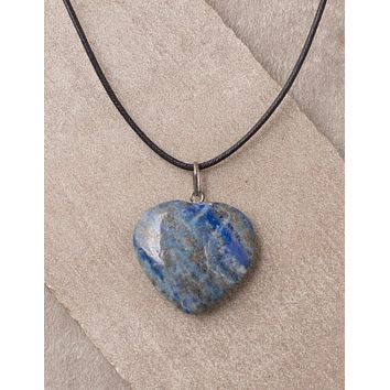 Lapis Heart Pendant - As-Is-Clearance