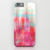 Color Song - abstract in pink, coral, mint, aqua iPhone & iPod Case by micklyn