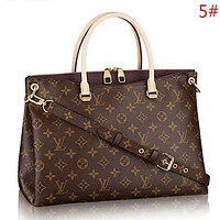 LV Louis Vuitton Fashion New Monogram Leather Women Shoulder Bag Handbag