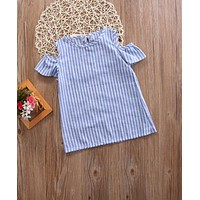 Baby Girls Summer Butterfly sleeves Infant Dress