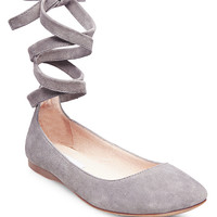 Bloome Suede Tie-Up Ballet Flats | Lord and Taylor