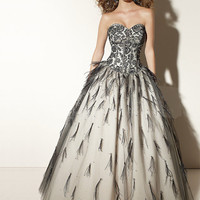 Beautiful Ball Gown Sweetheart Neckline Embroidery Floor Length Tulle Graduation Dress from SinoSpecial