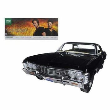 "1967 Chevrolet Impala Sport Sedan Black 4 Doors ""Supernatural"" (TV Series 2005) With Ohio License Plate 1/18 Diecast Model Car by Greenlight"