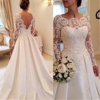 Lace Long Sleeves Wedding Dress