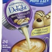 International Delight Coffeehouse Inspirations White Chocolate Mocha, 24-count Creamer Singles (Pack of 6)