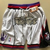 1998-99 Toronto Raptors Vintage Embroidered Pocket Zipper Ball Pants