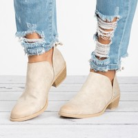 Distressed Ankle Booties