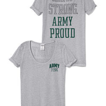 Army Rolled Cuff Tee - PINK - Victoria's Secret