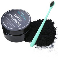 Mayitr 1 Set Carbon Coco Natural Organic Teeth Whitening Powder Coconut Charcoal Tartar Removal Coffee Stains For Dropshipping
