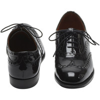 Lace Up Brogue Black Patent