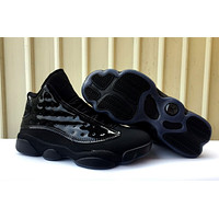 2019 Air Jordan retro 13 Premium Black men basketball shoes