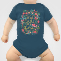 Little & Fierce Baby Clothes by Cat Coquillette