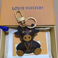 Louis Vuitton keychain new creative men and women net red car key chain ring backpack pendant