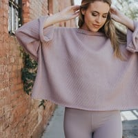 Hattie Oversized Sweater, Dusty Purple