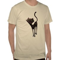 Black Cat of The Dead Tee Shirt from Zazzle.com