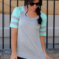 Work for It Top - Mint