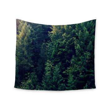 """Robin Dickinson """"Red In Woods"""" Forest Wall Tapestry"""