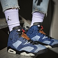 Air Jordan 6 Retro AJ6 high-top denim blue high-top basketball shoes