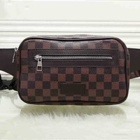 GUCCI x LV fashionable printed patchwork color Fanny pack hot seller of casual lady's cross-breast bag #3