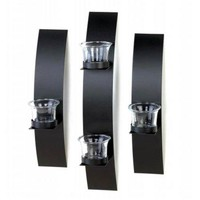 Iron Bands Candle Sconce Trio