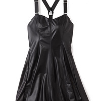 Edgy Faux Leather Dress