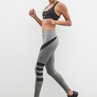 Heather Side-Mesh Athletic Leggings