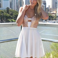 MARIAH DRESS , DRESSES, TOPS, BOTTOMS, JACKETS & JUMPERS, ACCESSORIES, 50% OFF , PRE ORDER, NEW ARRIVALS, PLAYSUIT, COLOUR, GIFT VOUCHER,,White,CUT OUT,STRAPLESS,Gold Australia, Queensland, Brisbane